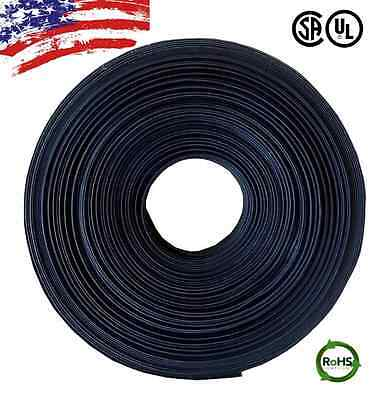 20 Ft. 20 Feet Black 1 25mm Polyolefin 21 Heat Shrink Tubing Tube Cable Us Ul