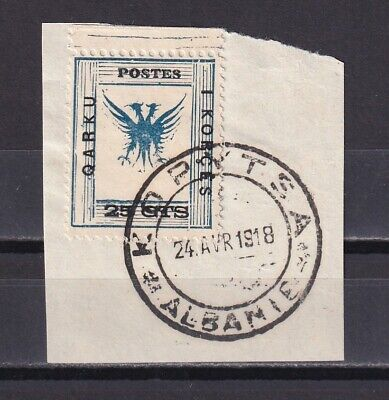 ALBANIA 1918, Sc# 81, CV $95, National Emblem, USED