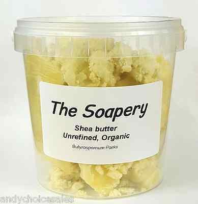 Organic Raw Shea Butter (Shea Butter - 500g - Certified Organic Unrefined Pure Natural Raw Grade A)