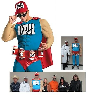 Simpson Halloween Costume (MENS Duffman Classic Beer Adult Simpsons Plus Size Halloween Costume XL or)