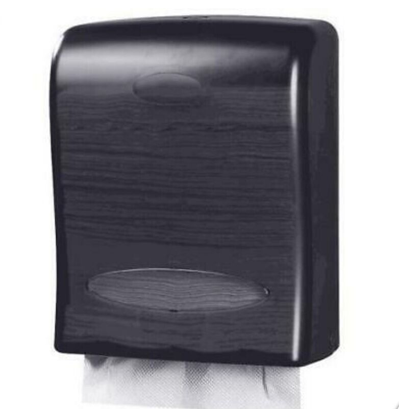 Touchless Paper Towel Dispenser - Wall Mount - Hold 500 Multifold - Black Smoke