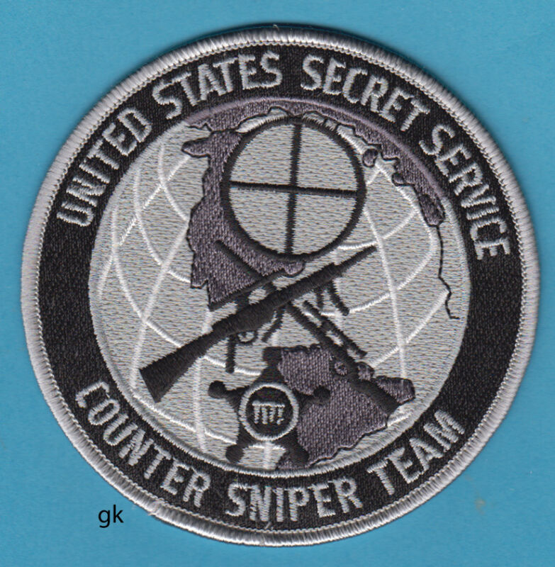 UNITED STATES SECRET SERVICE COUNTER SNIPER TEAM SHOULDER PATCH GRAY