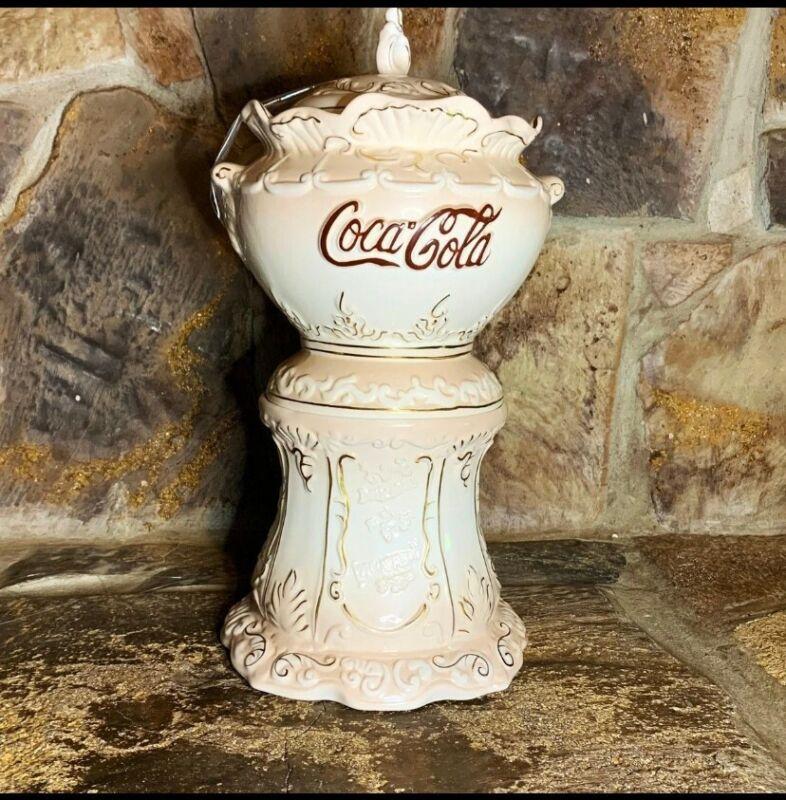 Coca Cola Cookie Jar. Ceramic Syrup Dispenser replica.