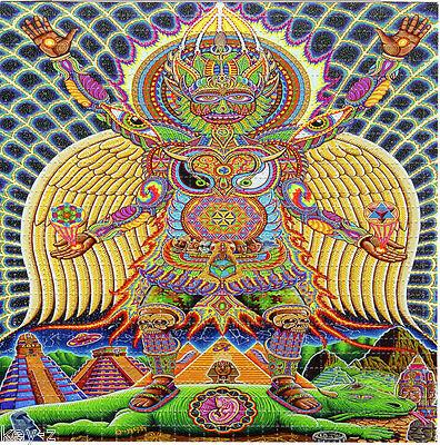 Neo Human Evolution - BLOTTER ART perforated psychedelic LSD Acid Art paper tabs