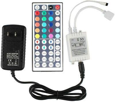 RGB LED Strip Light 44 Key IR Remote Controller+12V 2A Power Supply Adapter