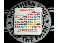 Brand new Lambretta coasters, in sets of 4, Mods Lambretta Scooter Boy Mods