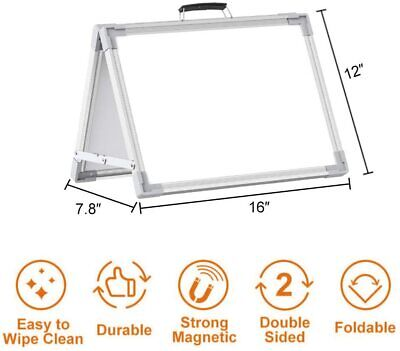 Small Dry Erase White Board Portable Double-sided Magnetic Board Stand