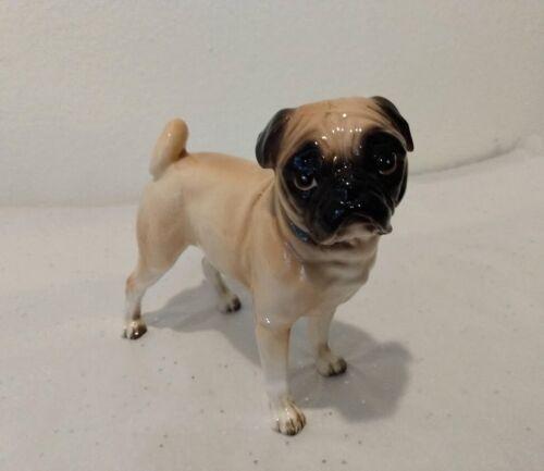 "Vintage Pug Dog Figurine Ceramic 5 1/2"" by 6"""
