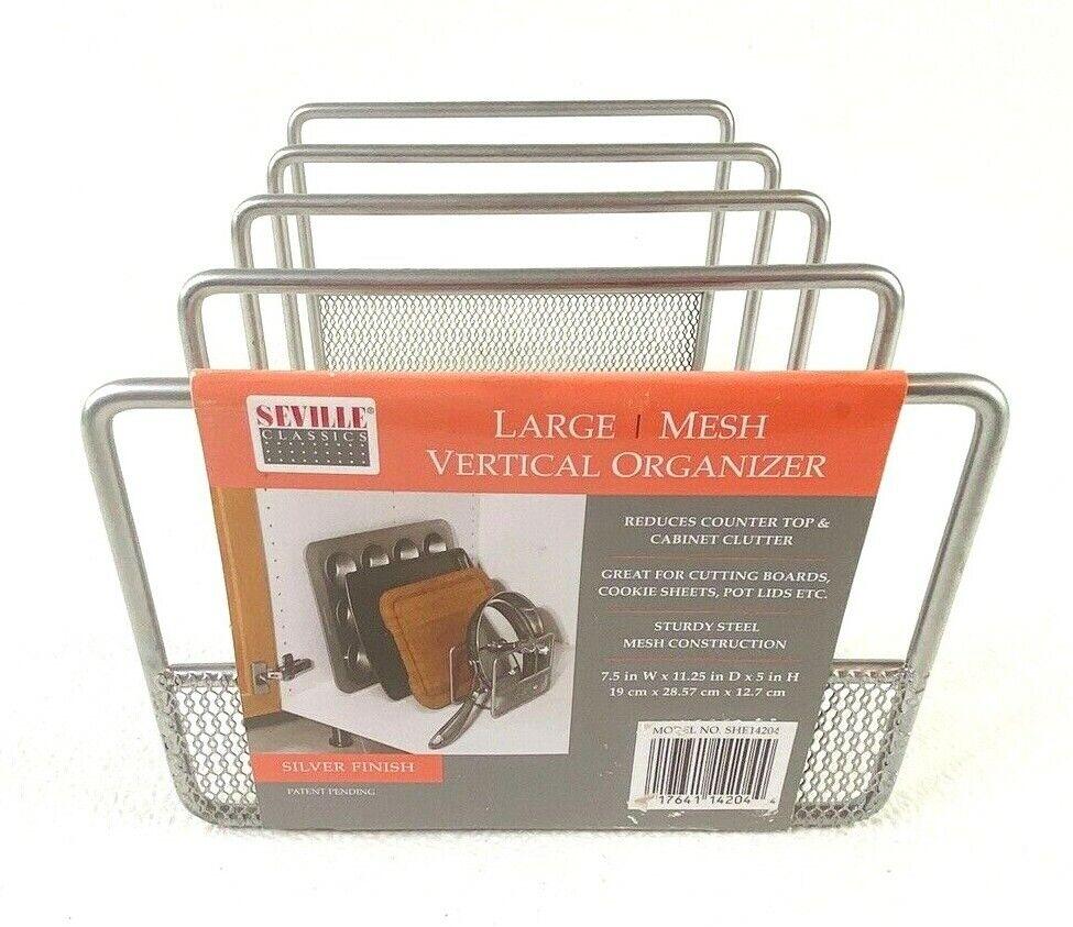 large metal mesh organizer pot lid cookie