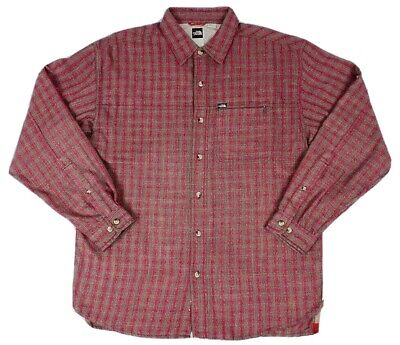 The North Face Men's Size M Plaid Button up Casual Long Sleeve Shirt