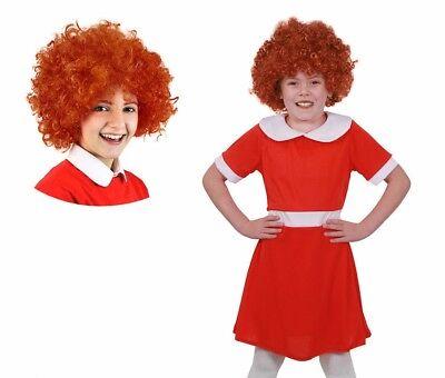Mädchen Annie Kinder Waise Kostüm Buch / filmcharakter + Perücke Woche ()