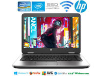 High Power HP i7 Laptop Core 3.3GHz Fast SSD WiFi Bluetooth 8Gb Ram 12.5""