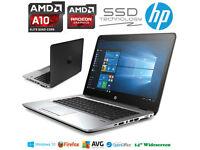 VERY FAST LIKE NEW HP EliteBook Gaming Laptop AMD QuadCore 3.3GHz SSD Radeon GFX Windows10 Pro