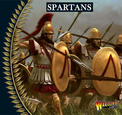 Spartan Greek Hoplites (10) 28mm Ancients SPQR HAIL CAESAR WARLORD](Greek Spartan)