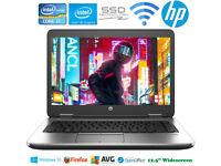 "High Power HP i7 Laptop Core 3.3GHz Fast SSD WiFi Bluetooth 8Gb Ram 12.5"""
