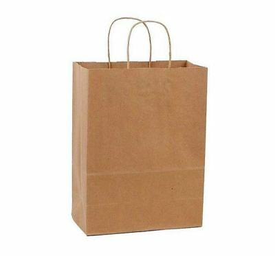 50 PCS Large Kraft Brown Paper Grocery Shopping Bags With Rope Handles Retail - Brown Paper Bags With Handles