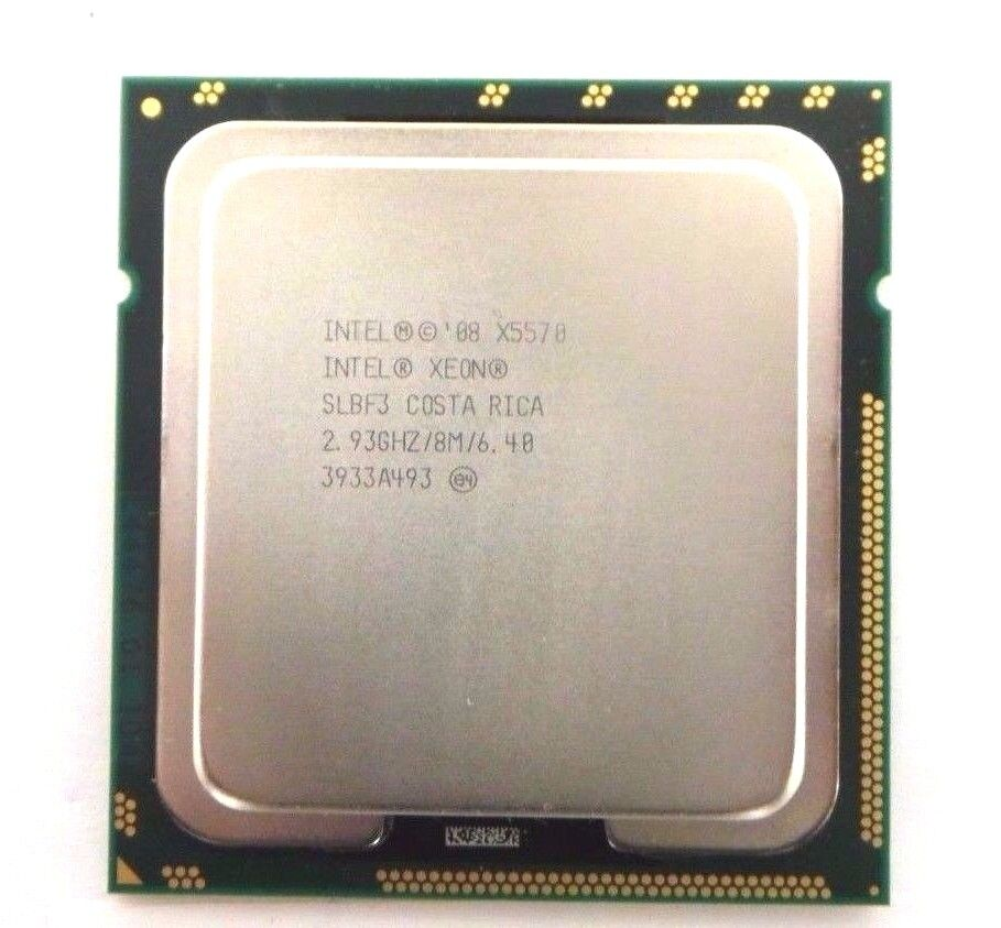 Matched pair of Intel Xeon X5570 2.93 GHz Quad-Core SLBF3 Processor w//Grease