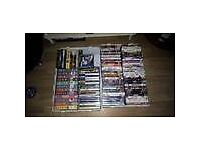 2 X BOXES DVDS/VHS/PS2 GAMES/PC-CD ROM