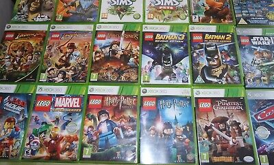 Xbox 360 Lego Marvel Batman Harry Potter Star Wars Pirates Kids Game VGC PAL UK