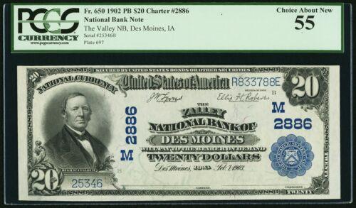 $20 1902 NBN, PCGS-55, Fr. 650, Iowa