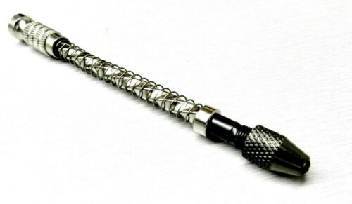 """Mini Hand Drill Spiral Hand Drill 4"""" with Spring Drilling Pin Vise with Chuck"""