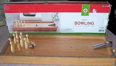 Mini Bowling Games (Mini Bowling game Set Desktop Wooden Toy Wood Office Gift Creative Leisure)
