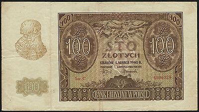 Ro.577 Besetzung Polen 100 Zlotych 1940 (3)