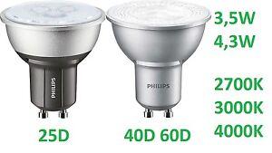PHILIPS-MASTER-LED-Spot-GU10-Reflector-3-5w-4-3w-W-Bombilla-Regulable-Lampara