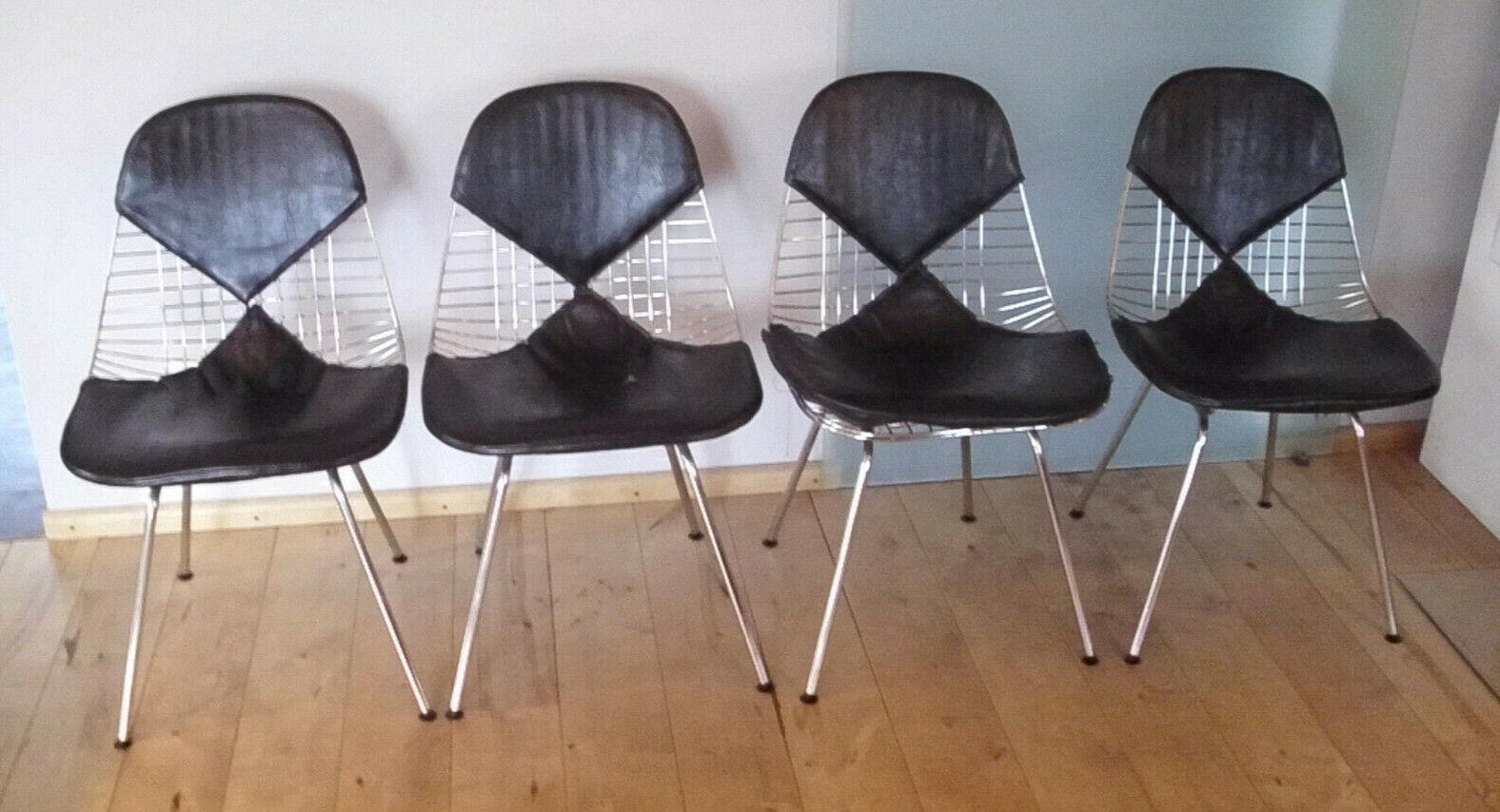 Charles Eams - Bikini Chair - 4 Stück - Designerstühle - 60er Jahre