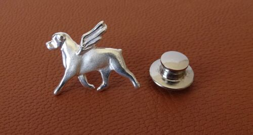 Small Sterling Silver Rottweiler Angel Lapel Pin