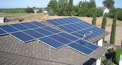 Solar Panel Mounting System For Shingle Roof, For 6 Full Size Panels