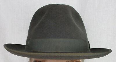 1950s Mens Hats | 50s Vintage Men's Hats Men's Vintage 1950's-60's Penny's Marathon Steel Fedora Hat size 7 5/8  $175.00 AT vintagedancer.com