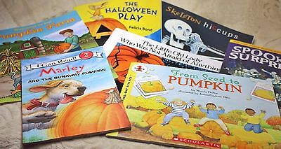 Scholastic Halloween Book Lot 10 Activity Coloring Marly Pumpkin Puzzle Lvl 1 2