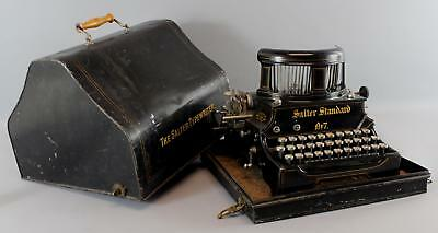 Antique Early 20thC Salter Standard No.7 Patented Cast Iron Typewriter & Case NR