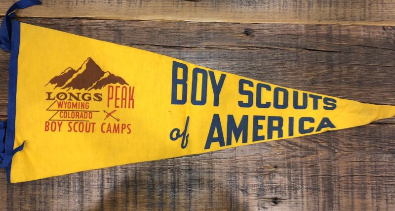 Boy Scout Longs Peak Wyoming Colorado Camps Felt Pennant