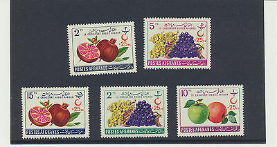 RED CRESCENT SOCIETY 1961 Afghanistan Mint NH Complete Set #B42 -B46