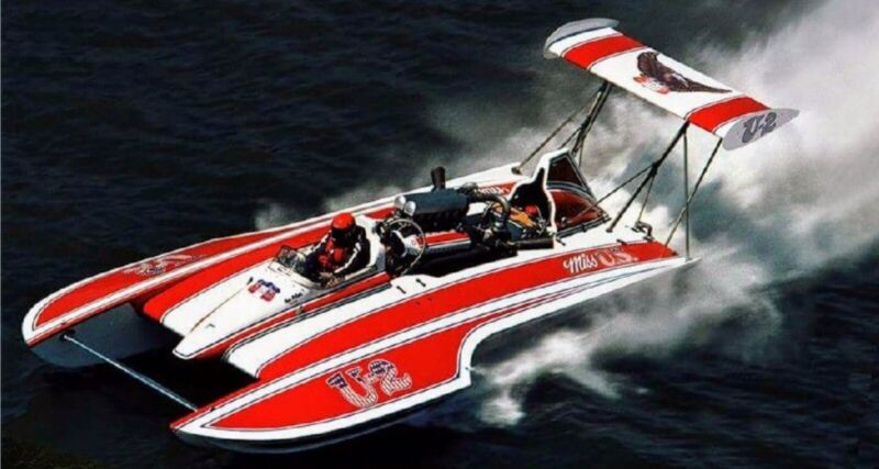 """46"""" MISS US 1976 GOLD CUP CHAMPION UNLIMITED HYDROPLANE RC BOAT KIT - USA MADE !"""
