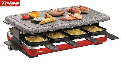 Raclettegrill 8er Trisa Swiss Hot Stone ** Edition rot  Top Gerät **