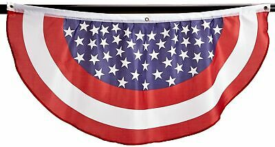 AMERICAN FLAG PATRIOTIC BUNTING STARS & STRIPES USA  4 X 4 BUY MORE SAVE -