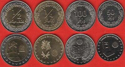 Libya set of 4 coins: 50 dirhams - 1/2 dinar 2014 UNC ()