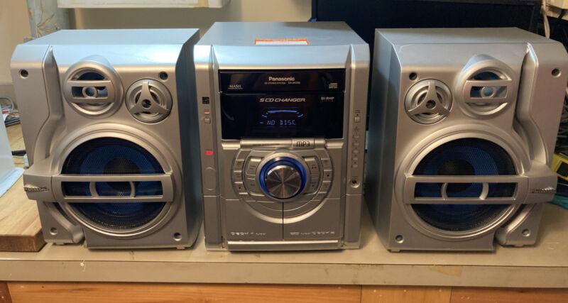 Panasonic CD Stereo System SA-AK330 5 CD Changer Bass Boost - Tested & Working