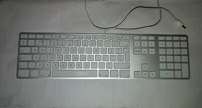 Apple Wired Aluminium Keyboard (English Layout) - White  Model A1243