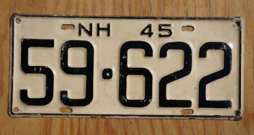 1938 1939 New Hampshire Passenger License Plate