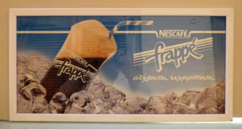 NESCAFE NESTLE FRAPPE ADVERTISIGN FRAME