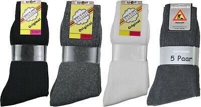 10 Paar Herren Sport Tennis Socken weiß / schwarz / grau Arbeitssocken