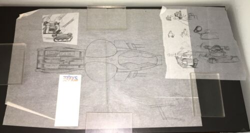 TOYS (1992) STARRING ROBIN WILLIAMS  ~ORIG. WASP-COPTER & TANKS CONCEPT DRAWINGS