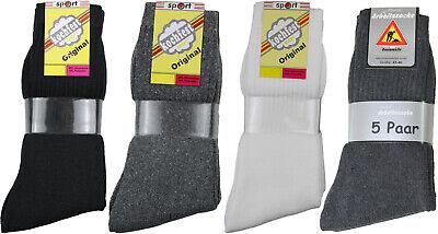 Top Herren-socken (10 Paar Herren Sport Tennis Socken weiß / schwarz / grau / anthrazit uni Top)