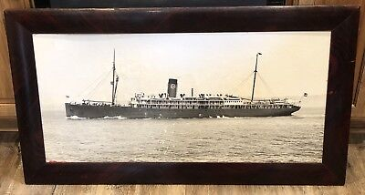 Large Vintage Framed PACIFIC STEAMSHIP CO. The Admiral Line Ship Photo Prescent for sale  Pocatello