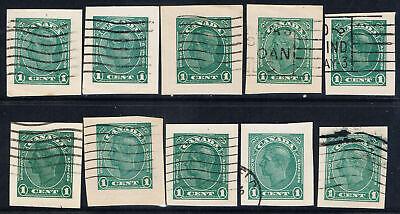 Canada #U49(1) 1938 1 cent pale green KING GEORGE VI 10 Used CV$2.50