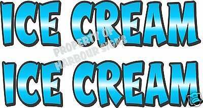 Ice Cream Decal 2 18 Concession Restaurant Food Truck Van Vinyl Letters